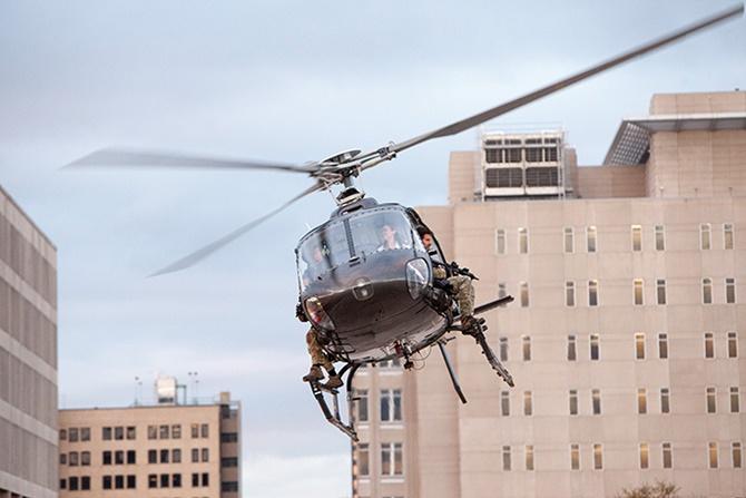 Hubschrauber in Navy Seals vs Zombies