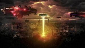 Alieninvasion in Stadt