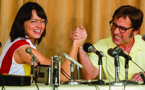 Emma Stone und Steve Carrell in Battle of the Sexes